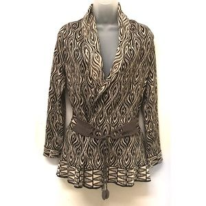 Anthro Moth Cardigan Tribal The Eyes Have It Sz S